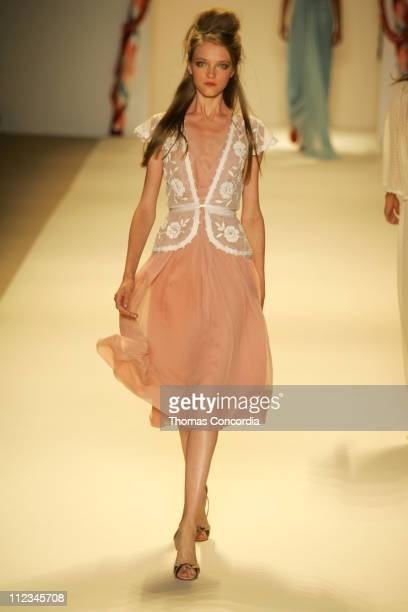 Vlada Roslyakova wearing Temperley London Spring 2006