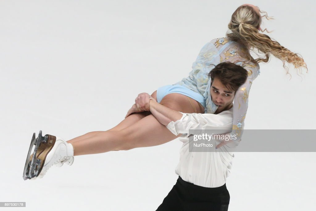 Vlada Solovyova and Yuri Vlasenko perform free dance at the Russian Figure Skating Championships in St, on December 23, 2017. Petersburg, on December 23, 2017.
