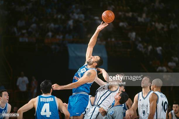 Vlade Divac from Yugoslavia during a semifinal game against Italy at the 1999 European Chammpionship