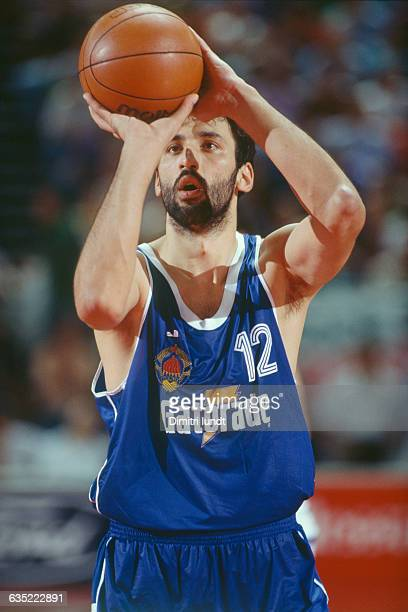 Vlade Divac from Yugoslavia during the 1991 European Championship