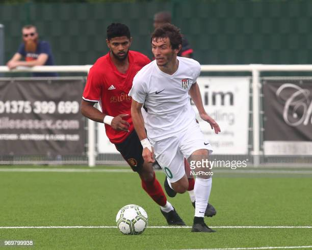 Vladimir Argun of Abkhazia during Conifa Paddy Power World Football Cup 2018 Quarterfinal C for Places 916 match between Tamil Eelam against Abkhazia...