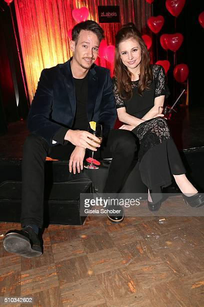 Vladimir Burlakov and Josefine Preuss during the 'Drunk In Love' Party hosted by Constantin Film and zLabels on February 14 2016 in Berlin Germany
