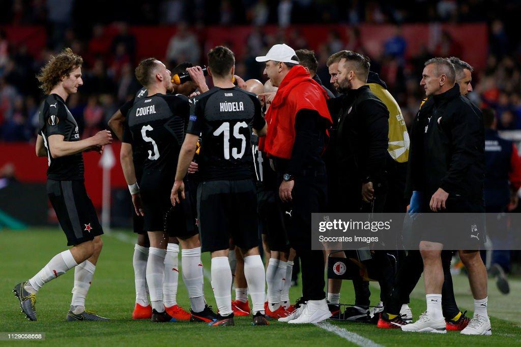 Sevilla v Slavia Prague - UEFA Europa League : ニュース写真