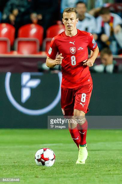 Vladimir Darida of Czech Republic controls the ball during the FIFA 2018 World Cup Qualifier between Czech Republic and Germany at Eden Stadium on...