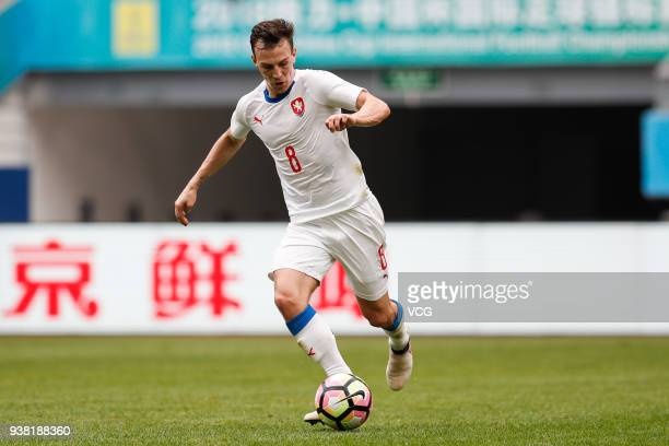 Vladimir Darida of Czech Republic drives the ball during the 2018 China Cup International Football Championship match between China and Czech...