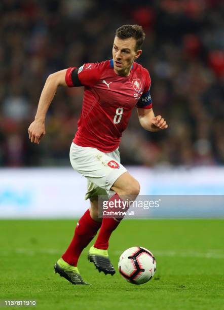 Vladimir Darida of Czech Republic during the 2020 UEFA European Championships Group A qualifying match between England and Czech Republic at Wembley...