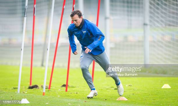 Vladimir Darida of Hertha BSC during the training session on October 20 2020 in Berlin Germany