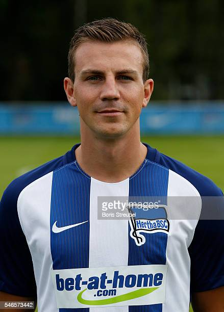 Vladimir Darida of Hertha BSC poses during the Hertha BSC Team Presentation on July 12 2016 in Berlin Germany