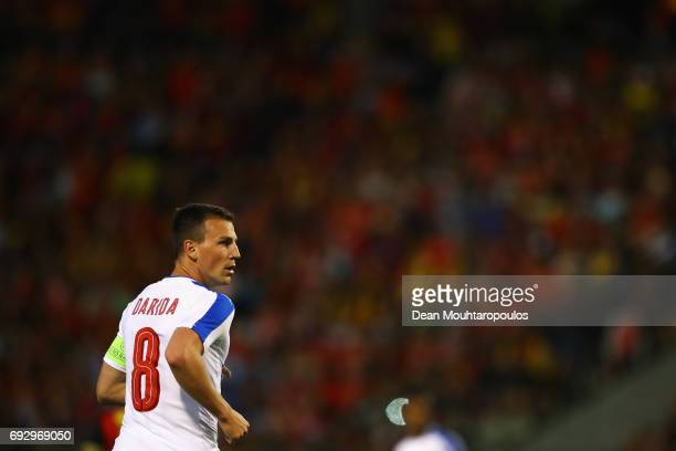 Vladimir Darida of the Czech Republic in action during the International Friendly match between Belgium and Czech Republic at Stade Roi Baudouis on...