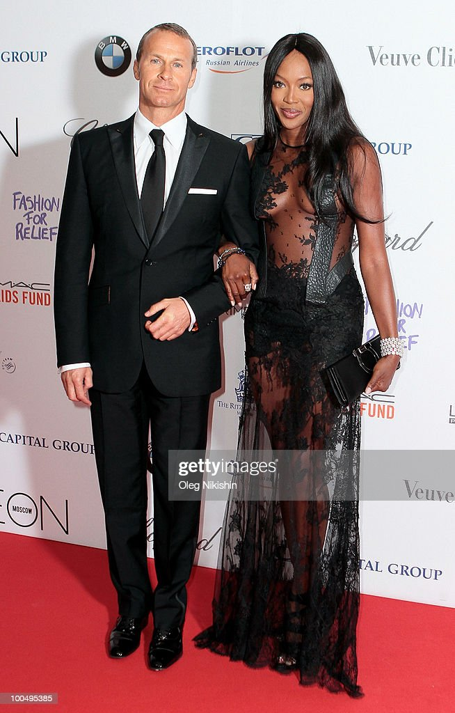 Vladimir Doronin and Naomi Campbell arrive at the NEON Charity Gala in aid of the IRIS Foundation at the Capital City on May 24, 2010 in Moscow, Russia.