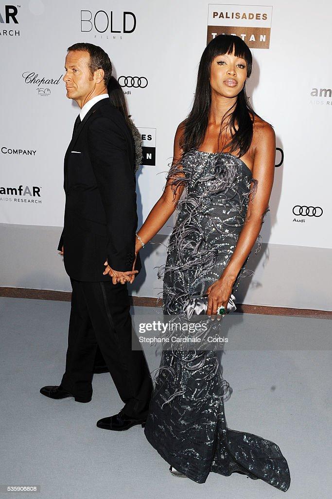 Vladimir Doronin and Naomi Campbell attend the '2010 amfAR's Cinema Against AIDS' Gala - Arrivals