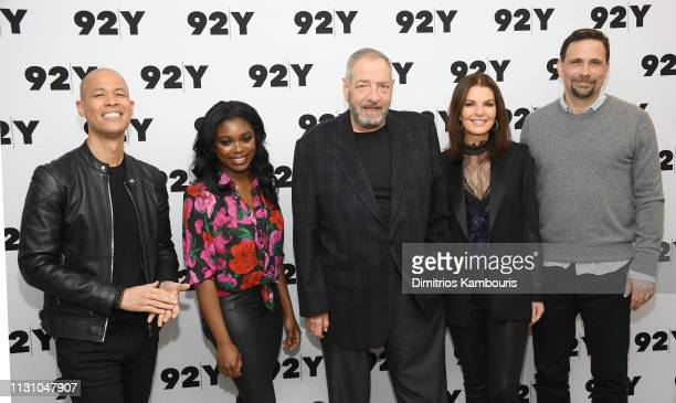 Vladimir Duthiers Ebonee Noel producer Dick Wolf Sela Ward and Jeremy Sisto attend CBS' FBI Screening Conversation at 92nd Street Y on February 20...