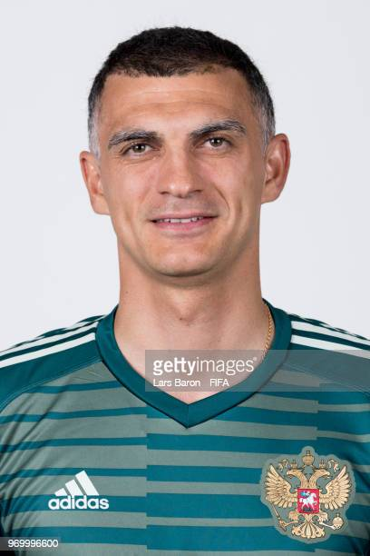 Vladimir Gabulov of Russia poses for a portrait during the official FIFA World Cup 2018 portrait session at Federal Sports Centre Novogorsk on June 8...