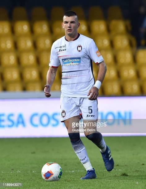 Vladimir Golemic of Crotone FC in action during the Serie B match between Benevento Calcio and Crotone FC at Stadio Ciro Vigorito on November 23 2019...