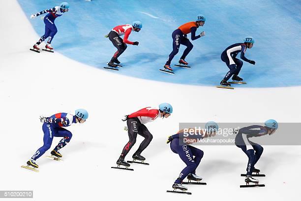 Vladimir Grigorev of Russia, Artem Kozlov of Russia, Francois Hamelin of Canada, Patrick Duffy of Canada, Mark Prinsen of the Netherlands, Dennis...