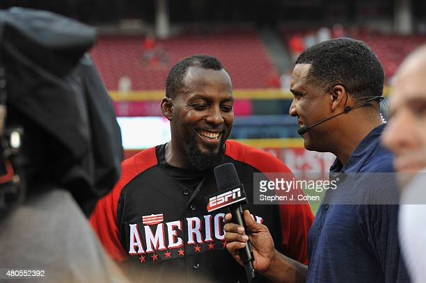 Vladimir Guerrero attends the 2015 MLB AllStar Legends And Celebrity Softball Game at Great American Ball Park on July 12 2015 in Cincinnati Ohio
