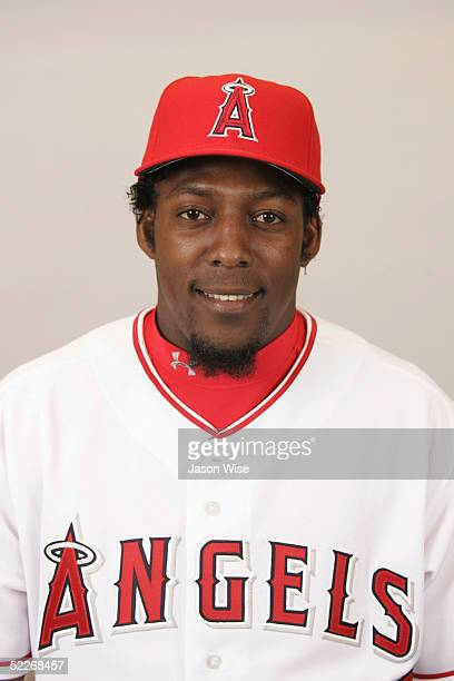 Vladimir Guerrero of the Los Angeles Angels of Anaheim poses for a portrait during photo day at Tempe Diablo Stadium on February 24 2005 in Tempe...