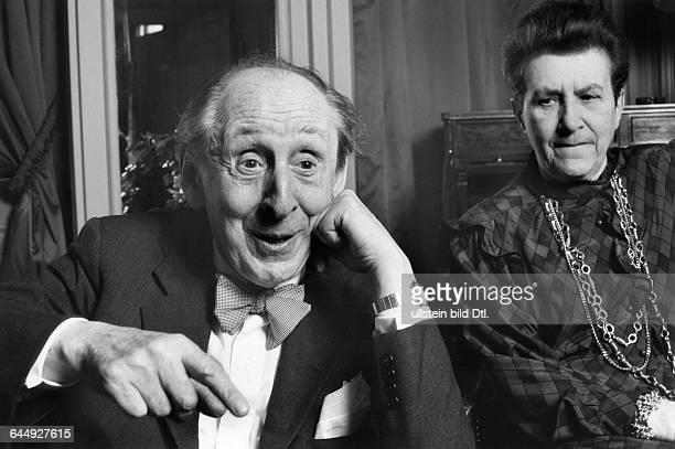 Vladimir Horowitz, pianist, and his wife Wanda Toscanini Horowitz