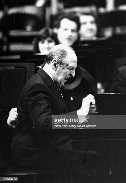 Vladimir Horowitz playing during the opening ceremonies of the refurbished Carnegie Hall