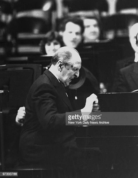 Vladimir Horowitz plays at the opening ceremonies of the refurbished Carnegie Hall