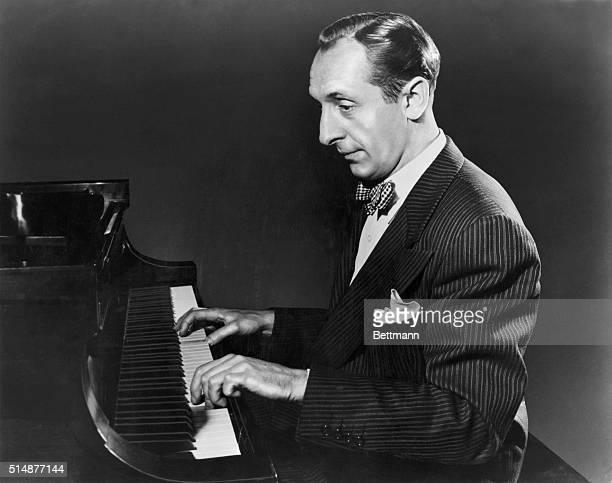 Vladimir Horowitz seated at the piano. Undated photograph. BPA2# 3239