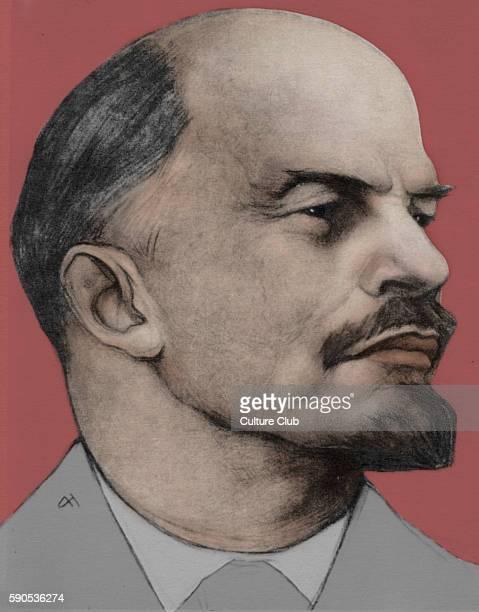Vladimir Ilich Lenin portrait October Revolution Communism Marxism Soviet Union Chairman of the Council of People's Commissars and virtual dictator...