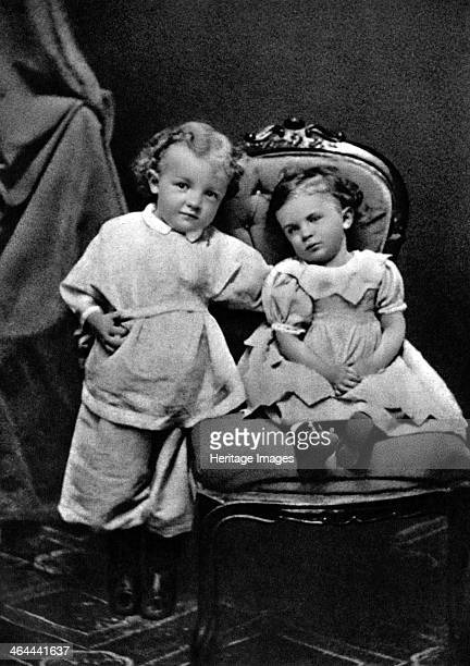 Vladimir Ilich Lenin Russian Bolshevik revolutionary leader aged 4 with his sister Olga 1874 Lenin became leader of the Bolshevik faction of the...