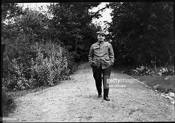 Vladimir Ilyich Ulyanov Lenin head of government of the Soviet Union in Gorki in August 1922 Photographer V Loboda