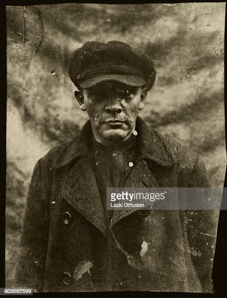 Vladimir Ilyich Ulyanov Lenin in St Petersburg Russia on 11th August 1917 Lenin appeared in disguise before fleeing to Finland Photographer DI...