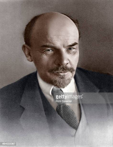 Vladimir Ilyich Ulyanov Russian Bolshevik revolutionary c1917 Lenin became leader of the Bolshevik faction of the Russian Social Democratic and...
