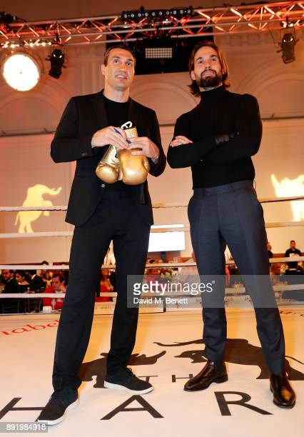Vladimir Klitschko and Jamie Jewitt attend The Charge II boxing fundraiser at The Lindley Hall on December 13 2017 in London England