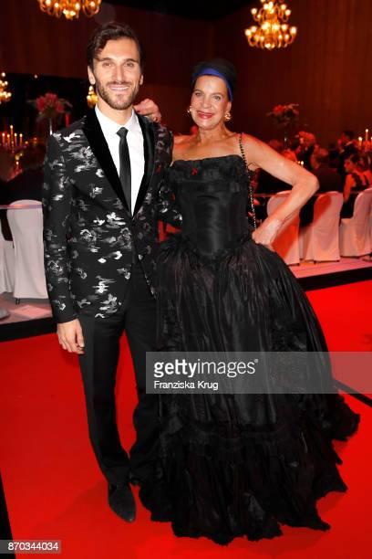 Vladimir Korneev and Barbara Engel during the aftershow party during the 24th Opera Gala at Deutsche Oper Berlin on November 4 2017 in Berlin Germany