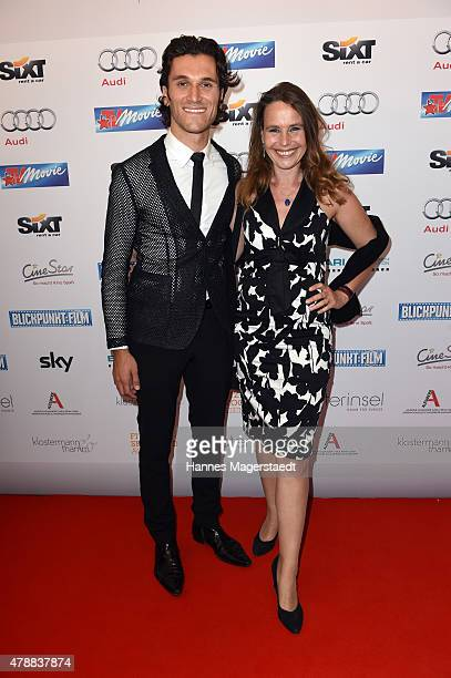 Vladimir Korneev and Marie Theres KroetzRelin attend the Audi Director's Cut at the Praterinsel during the Munich Film Festival at Praterinsel on...