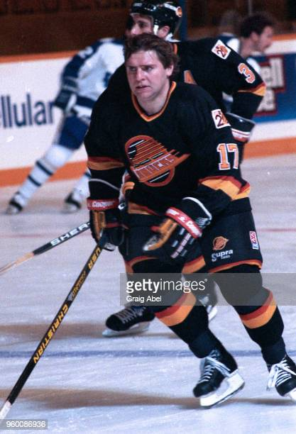 Vladimir Krutov of the the Vancouver Canucks skates against the Toronto Maple Leafs during NHL game action on October 18 1989 at Maple Leaf Gardens...