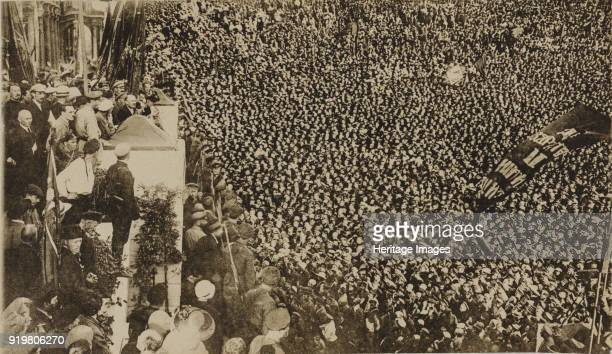 Vladimir Lenin at the opening ceremony of the II Comintern World Congress in Petrograd on July 19 1920 Found in the collection of State Hermitage St...