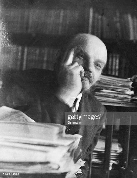 Vladimir Lenin Soviet leader during an interview shortly before his death in 1924