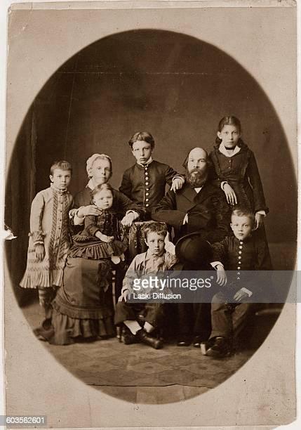 Vladimir Lenin's family From the left standing Olga Alexandr Anna sitting Maria Alexandrovna with daughter Maria on knees Dmitry Ilya Nikolayevich...