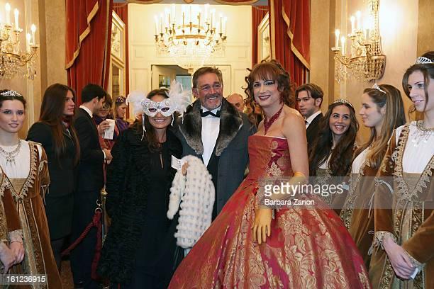 February 09: Vladimir Luxuria and Fabio Testi attend at La Fenice Theater the exclusive Gran Ballo della Cavalchina on February 9, 2013 in Venice,...