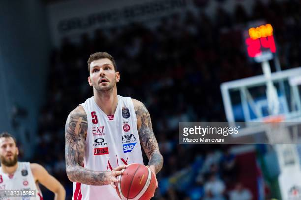 Vladimir Micov of Olimpia in action during the LBA LegaBasket of Serie A match between Vanoli Cremona and AX Armani Exchange Olimpia Milan at Pala...