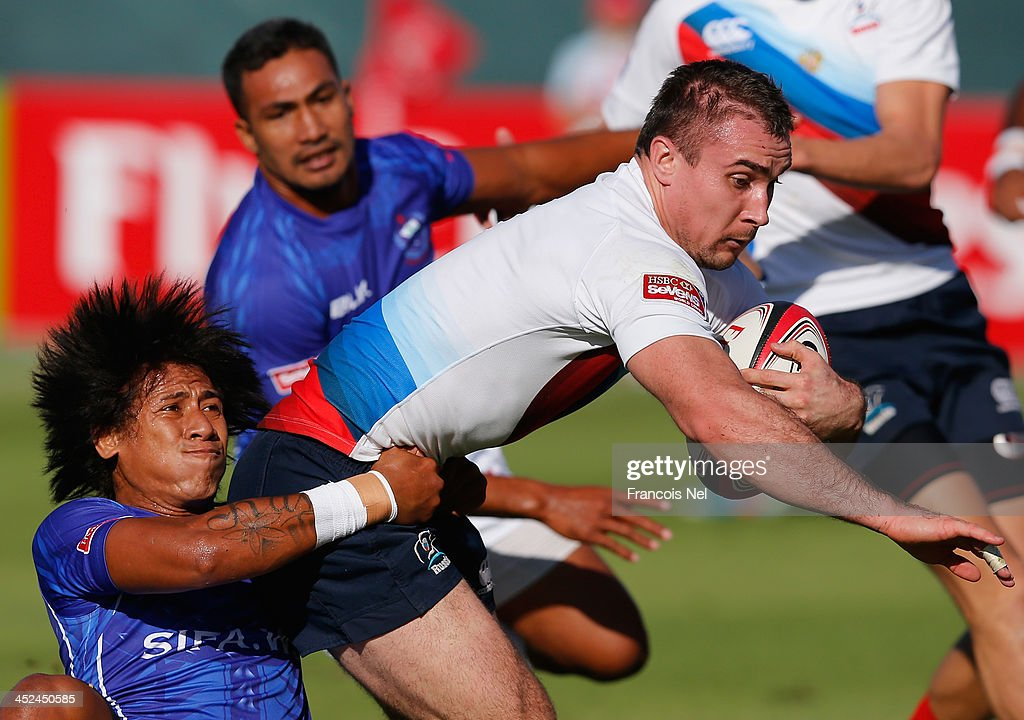 Emirates Dubai Rugby Sevens: HSBC Sevens World Series - Day Two : News Photo