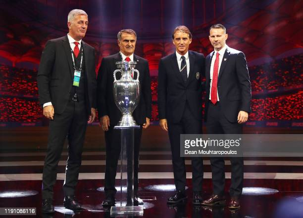 Vladimir Petkovic Head Coach of Switzerland Senol Gunes Head Coach of Turkey Roberto Mancini Head Coach of Italy and Ryan Giggs Head Coach of Wales...