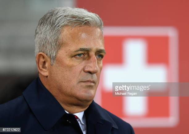 Vladimir Petkovic manager of Switzerland looks on during the FIFA 2018 World Cup Qualifier PlayOff First Leg between Northern Ireland and Switzerland...