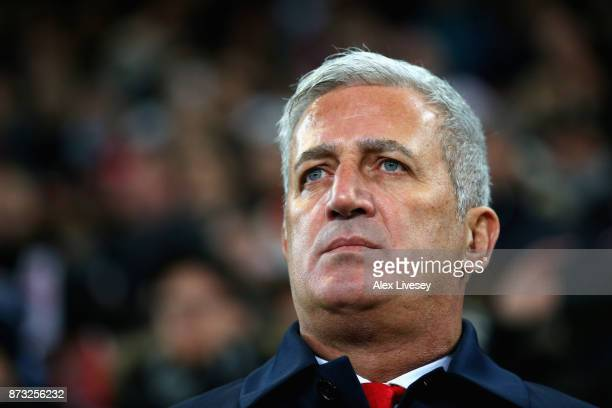Vladimir Petkovic Manager of Switzerland looks on prior to the FIFA 2018 World Cup Qualifier PlayOff Second Leg between Switzerland and Northern...