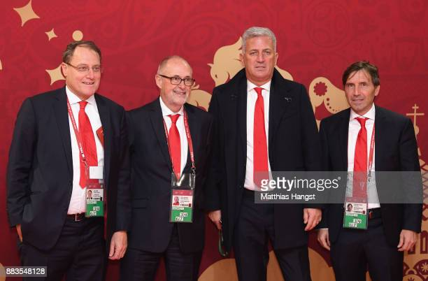 Vladimir Petkovic manager of switzerland with the swiss delegation during the Final Draw for the 2018 FIFA World Cup Russia at the State Kremlin...