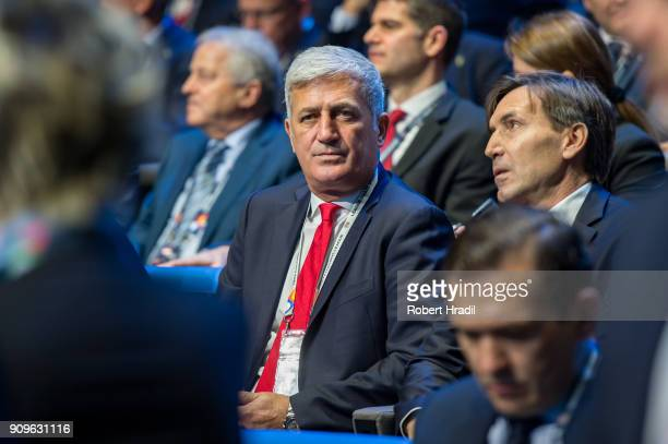 Vladimir Petkovic Switzerland during the UEFA Nations League Draw 2018 at Swiss Tech Convention Center on January 24 2018 in Lausanne Switzerland