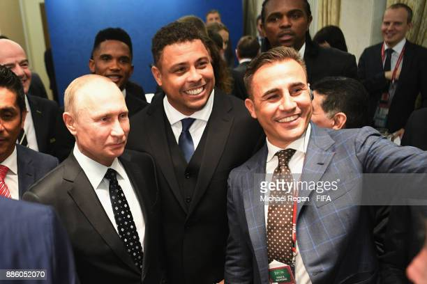 Vladimir Putin President of Russia meets Ronaldo and Fabio Cannavaro prior to the Final Draw for the 2018 FIFA World Cup Russia at the State Kremlin...