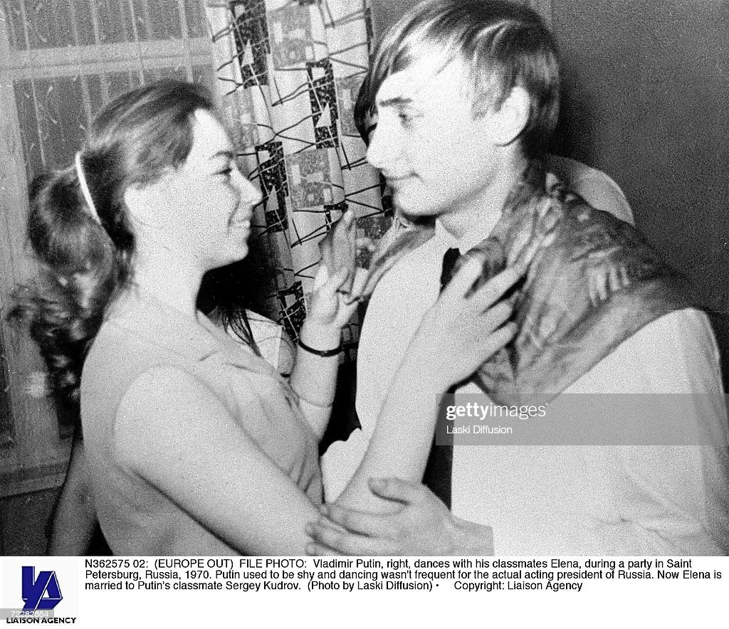 Putin dancing with a classmate in 1970 : News Photo