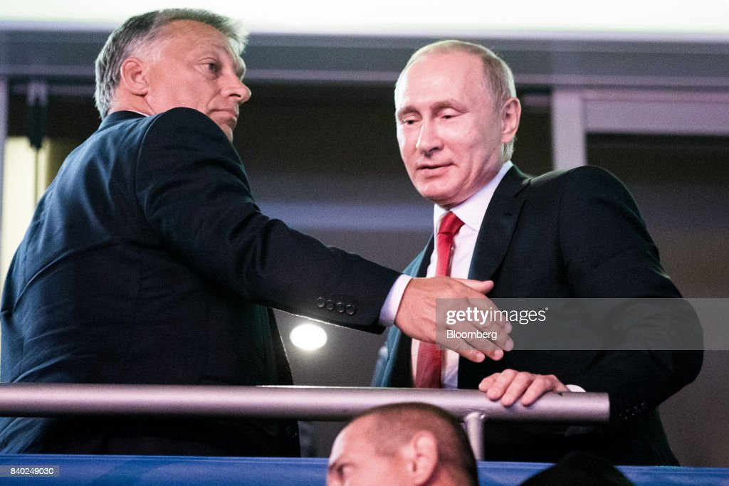 Russia's President Vladimir Putin Visits Hungary : News Photo