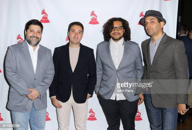 Vladimir Quintero Edward Ramirez and Rafael Pino attend the CPI Event during the 18th annual Latin Grammy Awards at the Hardwood Suite at Palms...