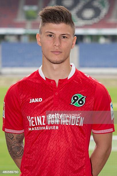 Vladimir Rankovic poses during a team presentation for Hannover 96 at HDIArena on July 13 2015 in Hanover Germany